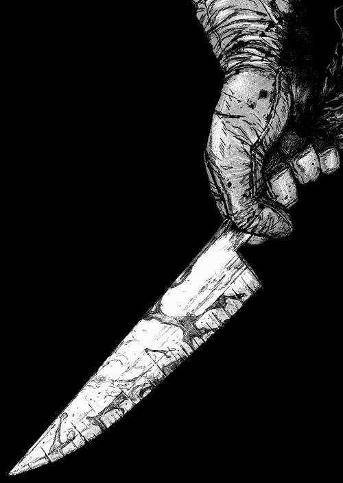 نتیجه تصویری برای kill with knife in manga