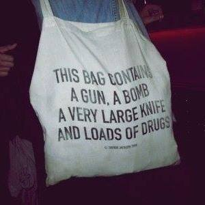 a bag with drugs