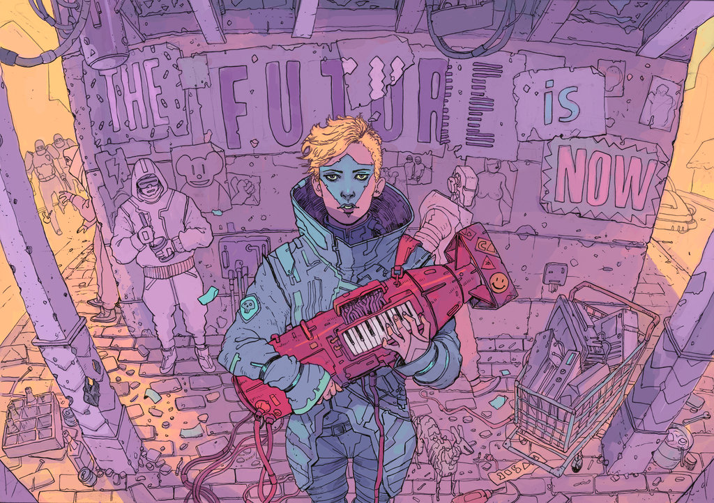 the future is now illustration future # 31  LIBERTY INFINITY