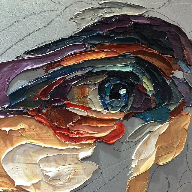 oil canvas eye art and design # 64  LIBERTY INFINITY