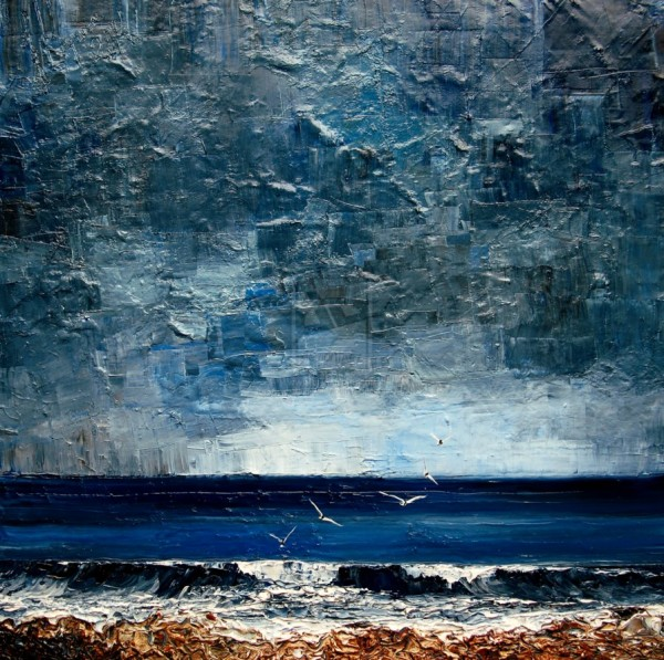 oil canvas sky sea 600x597 art and design # 64  LIBERTY INFINITY