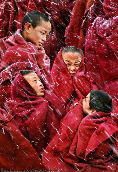 Buddhist children monks