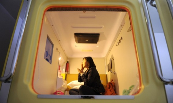 Capsule hotel in Chongqing, China - 24 Nov 2012