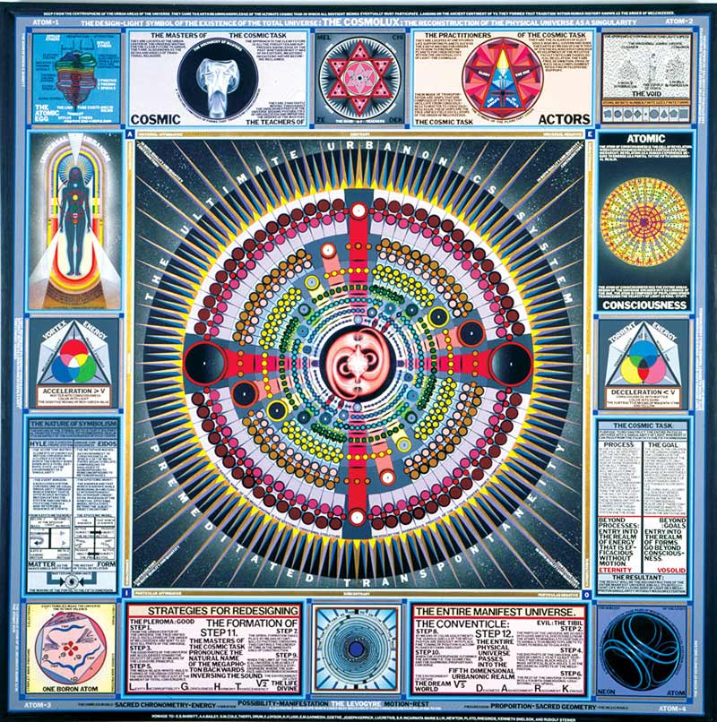 PaulLaffoley+reconsctruction of universe Paul Laffoley  LIBERTY INFINITY